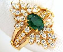 2.48ct Cocktail Natural Vivid Green Emerald Diamond