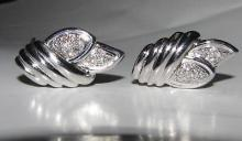 1.00CT DIAMONDS EARRINGS SHELL / FLORAL BUNDLE DECO 14K