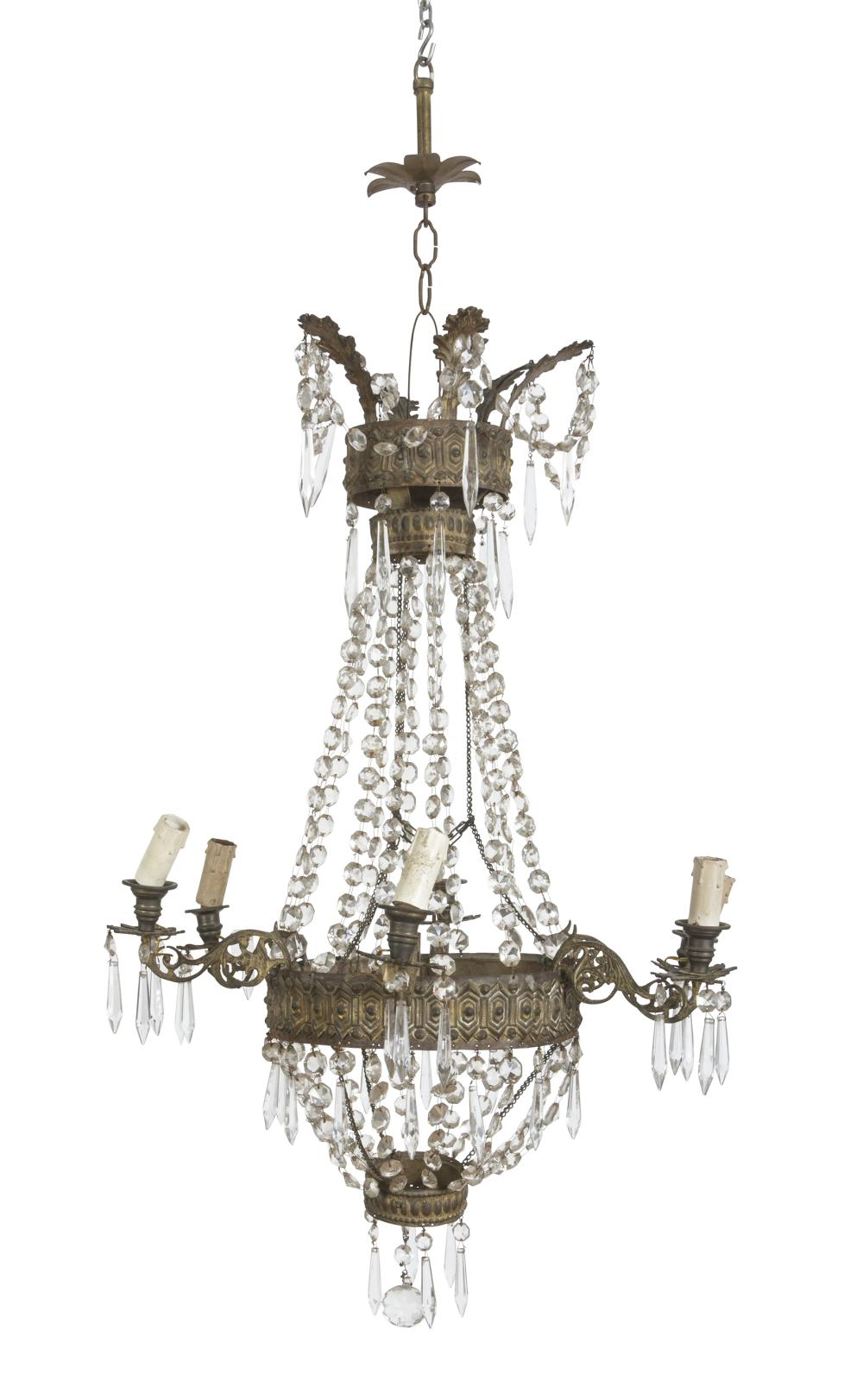 Lot 387: BELL CHANDELIER, EMPIRE PERIOD