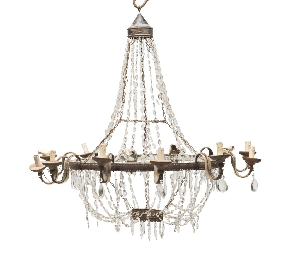 Lot 404: BELL CHANDELIER, EMPIRE PERIOD
