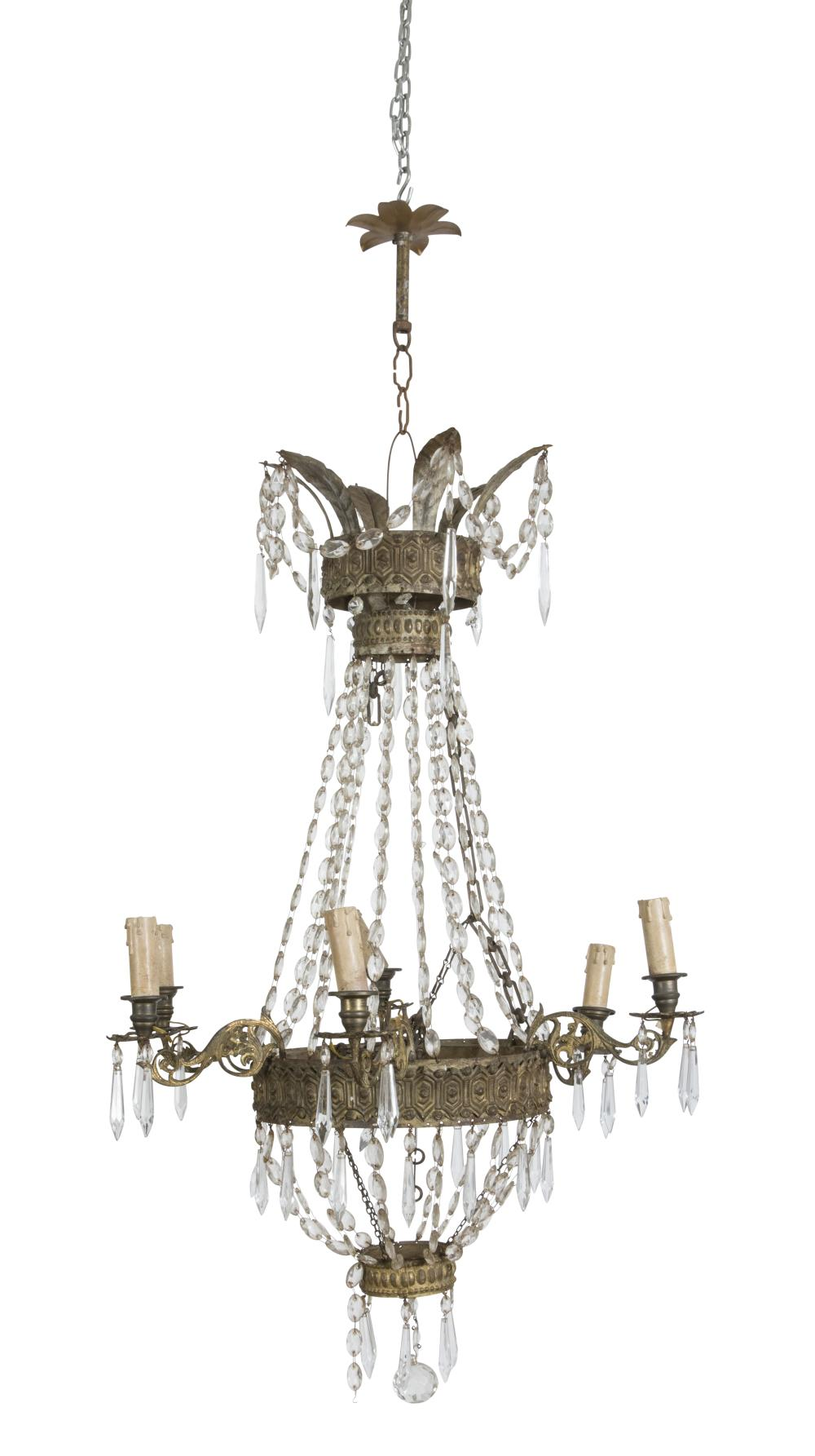 Lot 420: BELL CHANDELIER, EMPIRE PERIOD
