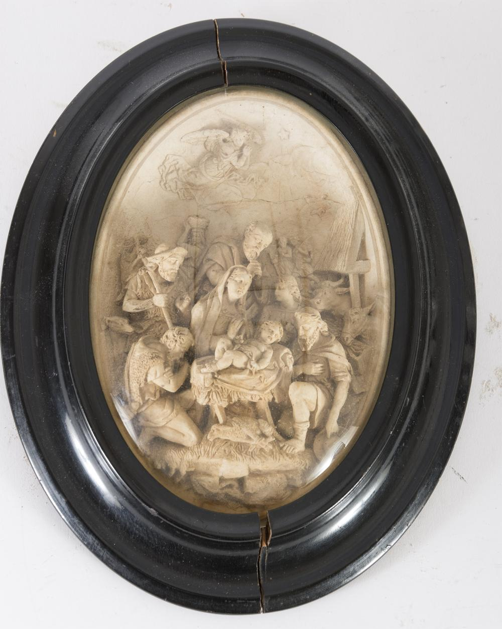 SMALL HIGH-RELIEF SCULPTURE IN FOAM, NAPLES 19TH CENTURY