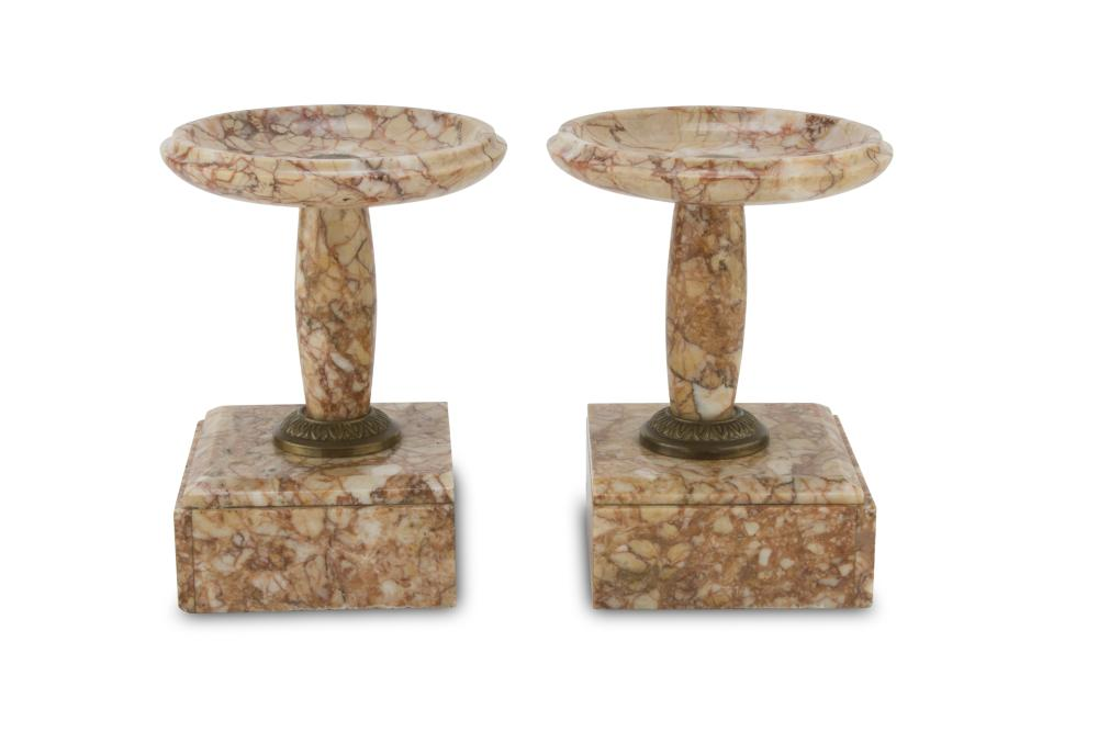 A Pair of Red Verona Marble Stands, EARLY 20TH CENTURY