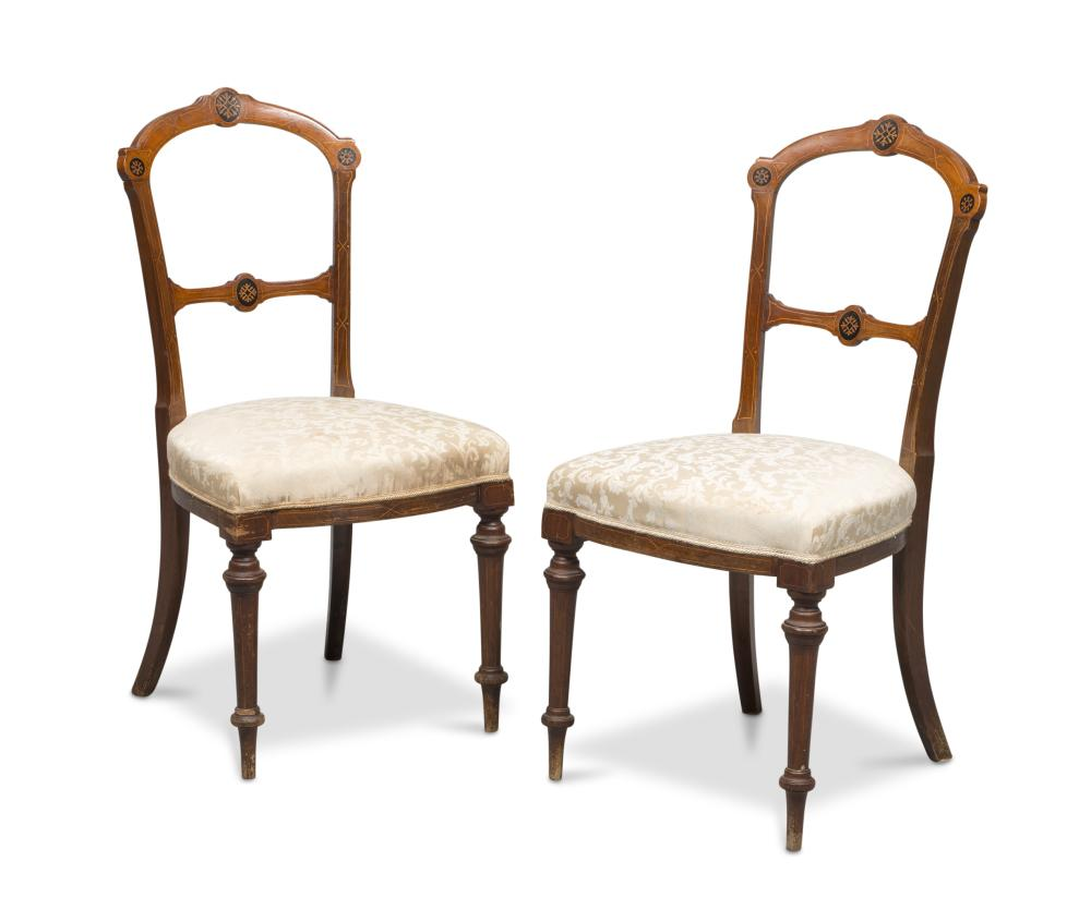 PAIR OF CHAIRS IN MAHOGANY, ENGLAND LATE 19TH CENTURY