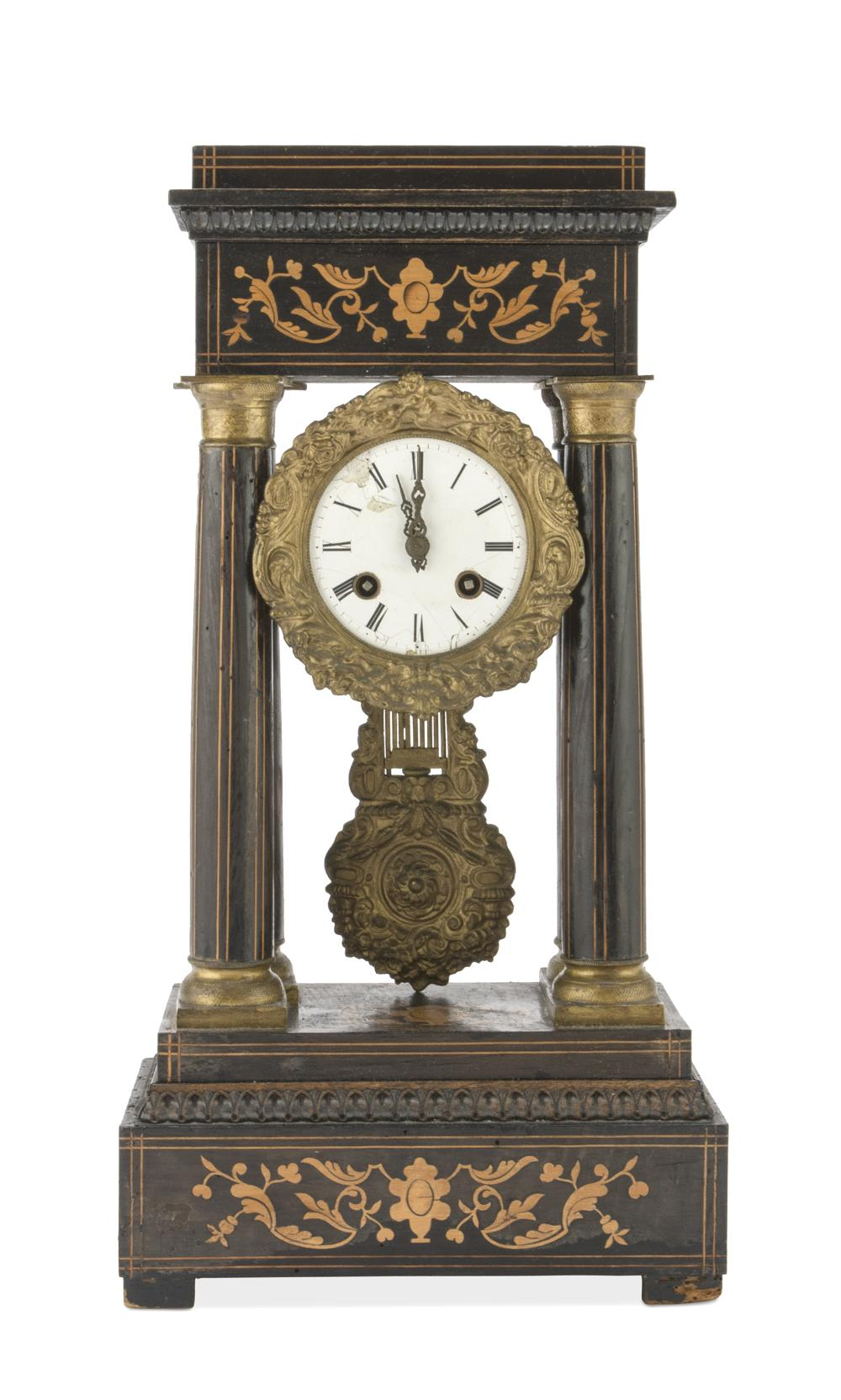TEMPLE CLOCK IN PALISANDER, 19TH CENTURY