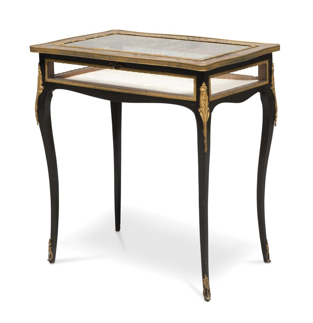 SMALL BOULLE TABLE, FRANCE 19TH CENTURY