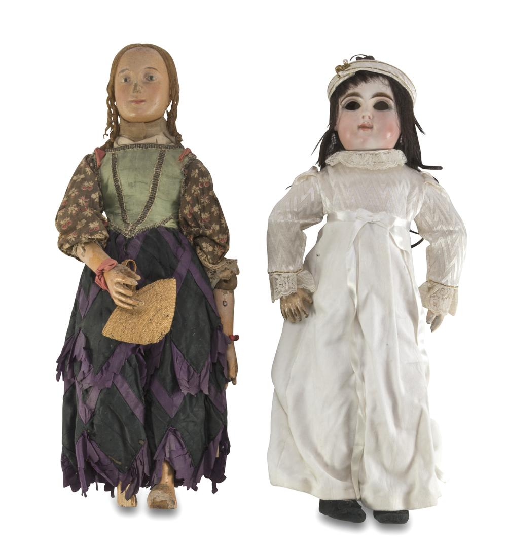 TWO DOLLS, EARLY 20TH CENTURY