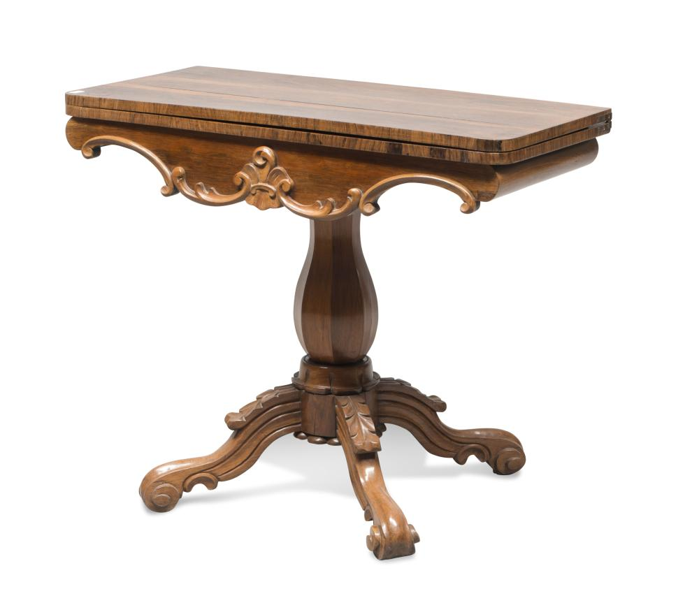 Lot 503: BEAUTIFUL CARD TABLE IN PALISANDER, 19TH CENTURY