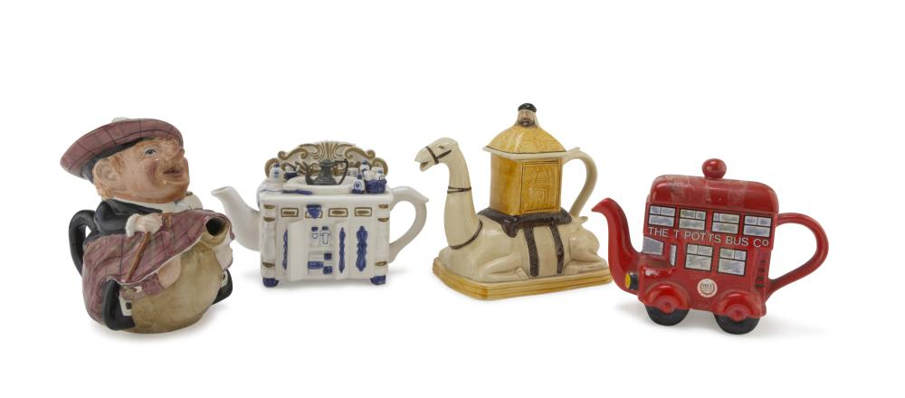 Lot 507: Four Ceramic Teapots, England EARLY 20TH CENTURY