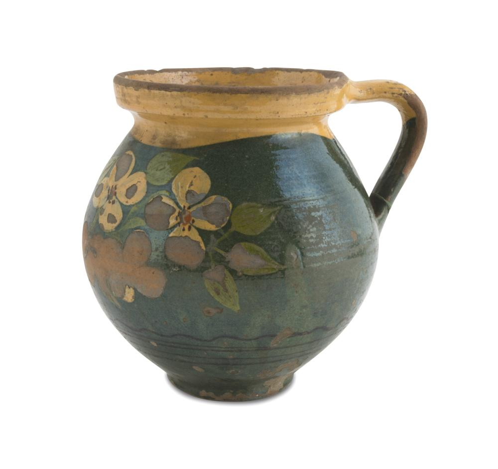 Lot 509: CERAMIC PITCHER, 19TH CENTURY
