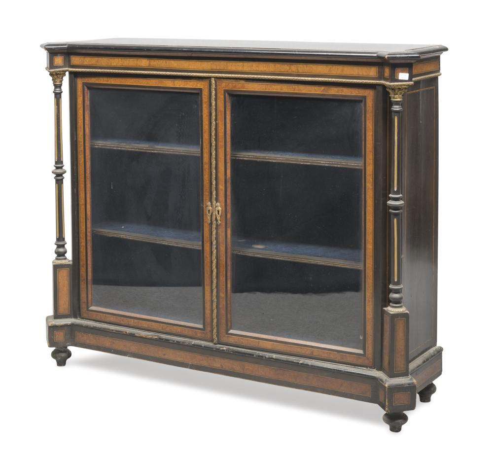 CABINET IN EBONY AND ELM TREE, FRANCE PERIOD NAPOLEON III