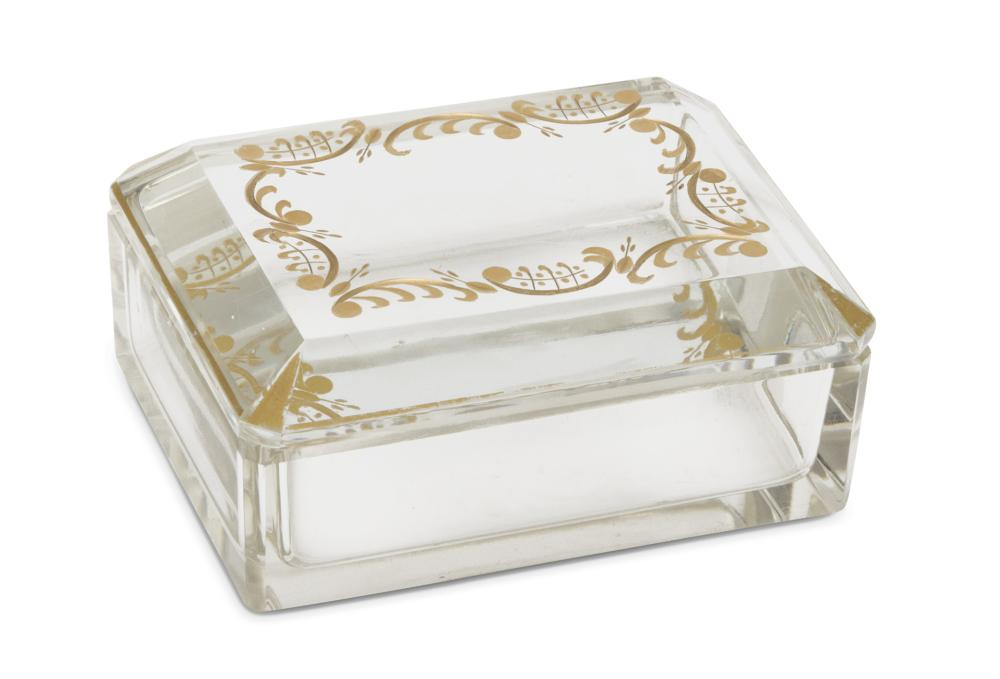 Lot 520: BOX IN CRYSTAL GLASS, '40s