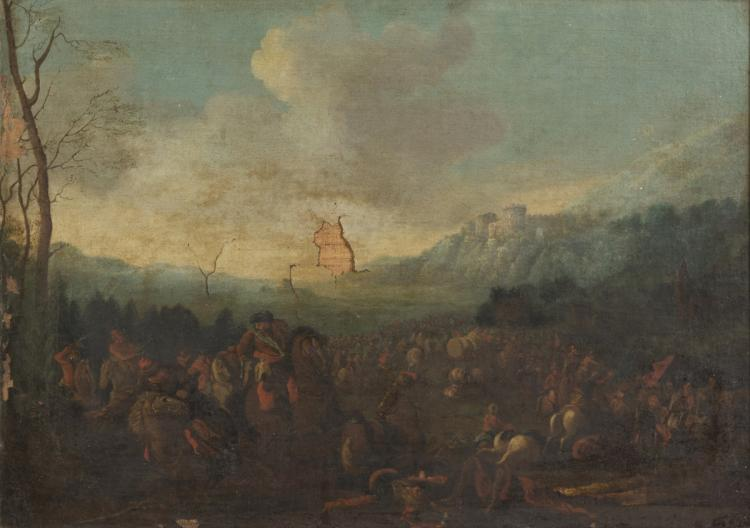 DUTCH PAINTER, SECOND HALF OF THE 18TH CENTURY BATTLE BETWEE