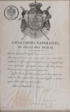 NAPOLEONIC EDICTS with nominations of Giuseppe Napoleone and Giacchino Napoleon.