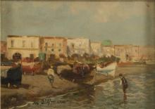 NEAPOLITAN PAINTER, 20TH CENTURY  FISHERMEN'S BOATS