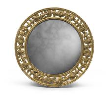 TABLE MIRROR IN GILDED BRONZE, LATE 19TH CENTURY