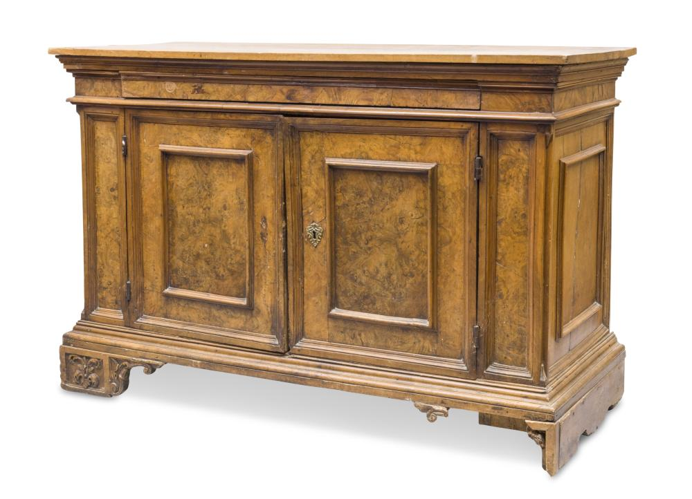 Credenza Perugia : Rare sideboard in walnut and briar perugia early t