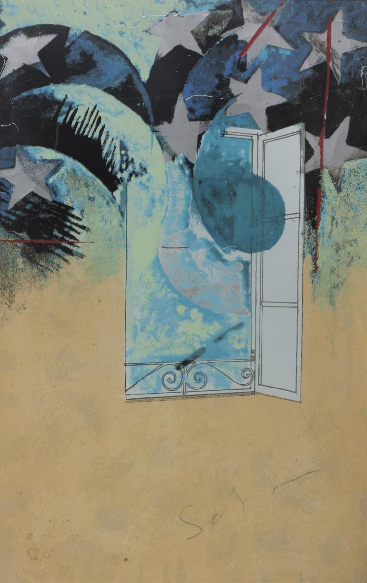 Anni 70 Colori mario schifano (homs 1934 - roma 1998) finestra, anni '70