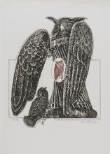 TWO ETCHINGS BY VALERIO TRUBBIANI 1983