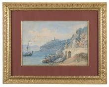 WATERCOLOR OF CONVENT IN CASTELLAMARE BY JAQUES HENRI JUILLERAT (1777-1860)