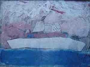 Scott Redford (born 1962) Battleship Mixed media on paper 56cm x 76cm 1