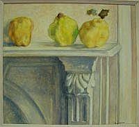 Ena Joyce (b.1925) Terrace Mantlepiece, 1990-2 Oil
