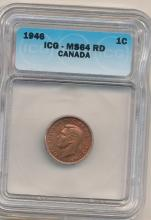 1946 CANADA CENT ICG 64 RED