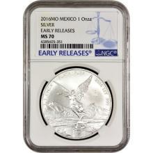 2016 1 oz Mexican Silver Libertad Coin NGC MS70 ER