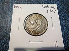1943 Australia Silver Shilling