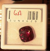 13.28CT  ruby cushion cut graded VVS