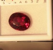 12.31CT ruby Oval Cut Graded VVS