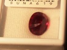 9.70ct ruby Oval Cut Graded VVS