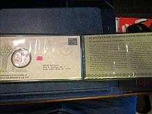 1972 St. Patrick's Day Commemorative Medal and Cachet Pure Irish .999 Silver
