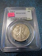 1945S Walking Liberty Half Dollar - PCGS VF35