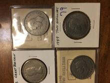 lot of Four Great Britain Two Shiulling Coins : 1948, 1949, 1951 and 1962