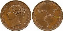 COINS, EUROPEAN TERRITORIES, ISLE OF MAN Victoria