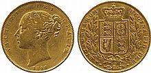 BRITISH COINS, MILLED GOLD SOVEREIGNS, Victoria,