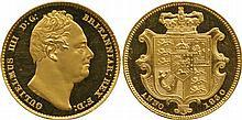 BRITISH COINS, MILLED GOLD SOVEREIGNS, William IV