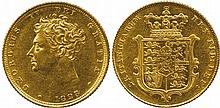 BRITISH COINS, MILLED GOLD SOVEREIGNS, George IV,