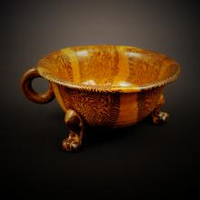 Late Tang Dynasty Yellow Glaze with Beast Foot Cup