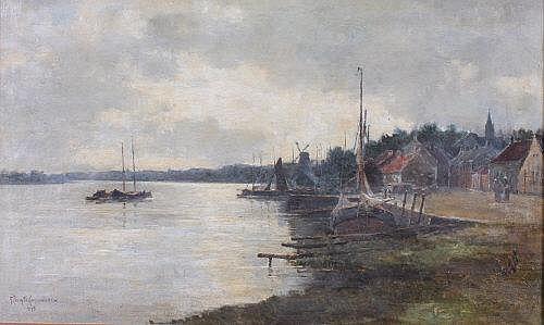 George Nasmyth Langlands R.S.W. (d.1940) Estuary