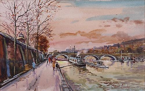Michael Crawley The Quay on the Seine, Paris