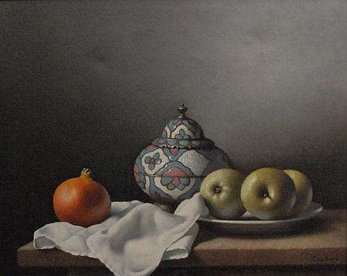 Christopher Cawthorne (20th century) Still life,