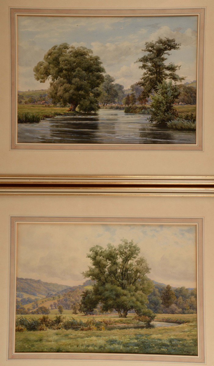 Legh Mulhall Kilpin (early 20th century) A Pair, Meandering Rivers, in summ