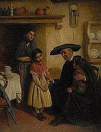 John Bagnold Burgess (1830-1897) Sorrowful Child,