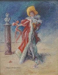 Emile E Semenowsky (1857 - 1911) A Theatrical Lady