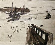 Donald Sinclair Swan (act.1952), St Ives Harbour,