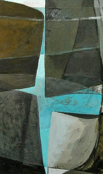 Biddy Picard (1922-)Rock Balance and Blue, oil on