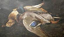 Ruth Simpson (1889-1964)Mallards, oil on canvas,