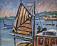 Marjorie Mort (1906- 1989) Brown Sail -oil on